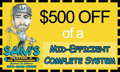 Coupon for a Mid-Efficient Complete HVAC System